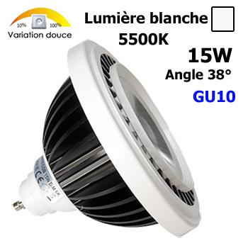 ampoule led ar111 15w gu10 230v lumi re blanche lampe 15w agencement de magasins. Black Bedroom Furniture Sets. Home Design Ideas