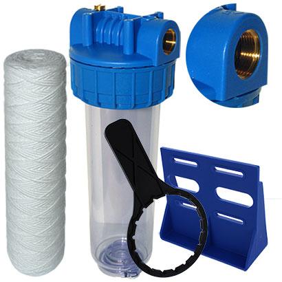 Filtration 20 microns complet support sp cial arriv e d 39 eau 20 27 - Kit filtration eau potable ...