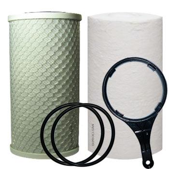 kit cartouches 10 pouces filtration waterkalk ydrokalk filtres big blue s diments charbon. Black Bedroom Furniture Sets. Home Design Ideas