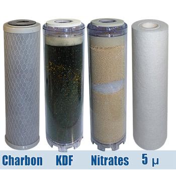 Filtres chore nitrates plomb 9 pouces 3 4 pr traitement de l 39 eau vortex de restructuration - Kit filtration eau potable ...