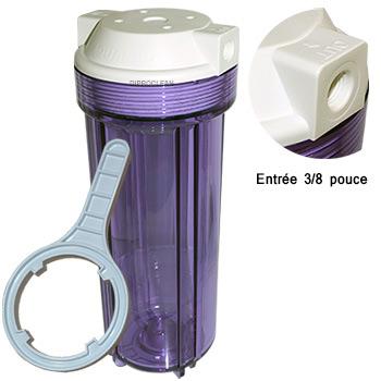 porte filtre osmoseur 9 3 4 pouce transparent entr e 3 8 filtre de purificateur d 39 eau de boisson. Black Bedroom Furniture Sets. Home Design Ideas