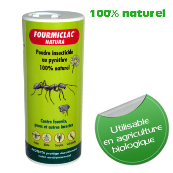 poudre insecticide anti fourmis puces 250 g poudre 100 naturelle en agriculture biologique. Black Bedroom Furniture Sets. Home Design Ideas