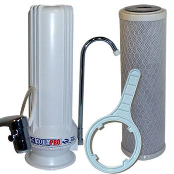 Purificateur charbon bloc sur evier filtre eau du chlore mauvais go t odeurs - Filtre a eau maison ...