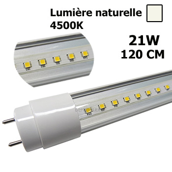 tube led 120cm t8 lumi re naturelle 21w tube fluo de 36w basse consommation. Black Bedroom Furniture Sets. Home Design Ideas