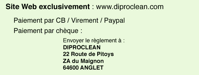 Passer une commande sur diproclean.com