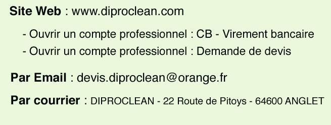 Passer une commande professionnelle sur diproclean.com