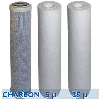 kit cartouches filtration d 39 eau ecostream filtres 20 pouces s diments charbon station de. Black Bedroom Furniture Sets. Home Design Ideas