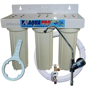 purificateur d 39 eau 3 cartouches sous evier triple filtration cartouches charbon. Black Bedroom Furniture Sets. Home Design Ideas