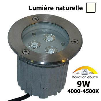 Spot led 9w encastrable lumi re naturel rgb eclairage for Lumiere terrasse led